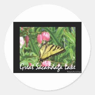 Sacandaga Butterfly Round Sticker