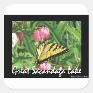 Sacandaga Butterfly Square Sticker