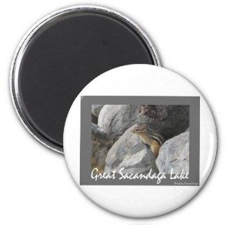 Sacandaga Chipmunk 6 Cm Round Magnet