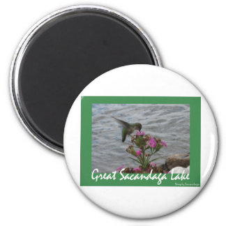 Sacandaga Hummingbird 6 Cm Round Magnet