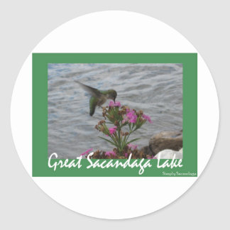 Sacandaga Hummingbird Round Sticker