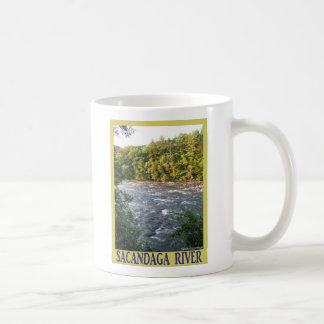 Sacandaga River Basic White Mug