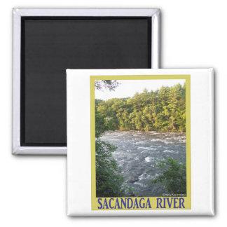 Sacandaga River Square Magnet