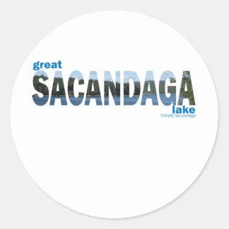 Sacandaga Round Sticker