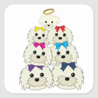 Saccone-Joly's Maltese Family Square Sticker