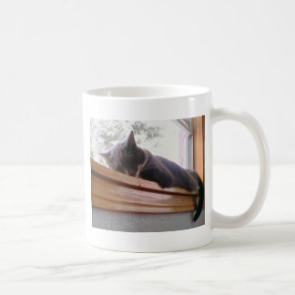 Sacha the cat sleeping mug