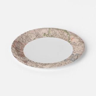 Sachsen, Anhalt 7 Inch Paper Plate