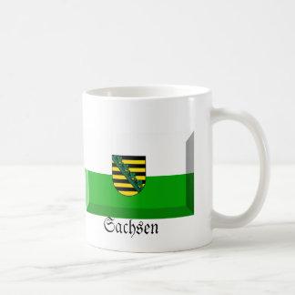 Sachsen Flag Gem Basic White Mug