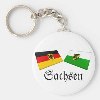 Sachsen, Germany Flag Tiles Keychains