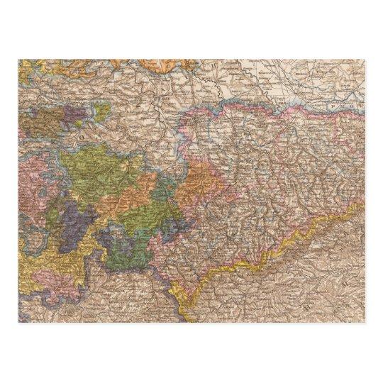 Sachsen, Thuringische Staaten Atlas Map Postcard