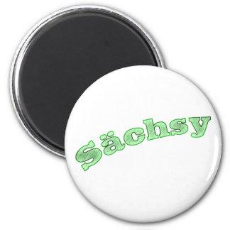 sächsy sexy Saxonia 6 Cm Round Magnet