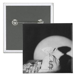 Sack of Money 15 Cm Square Badge