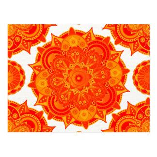 Sacral Chakra Mandala Postcard
