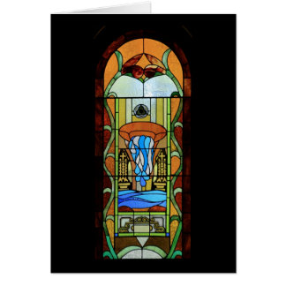 Sacrament of Baptism Stained Glass Art Card