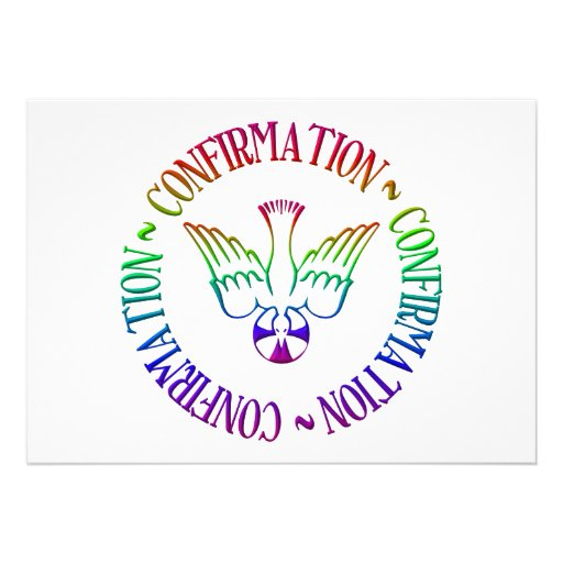 Sacrament of Confirmation - Descent of Holy Spirit Personalized Invites