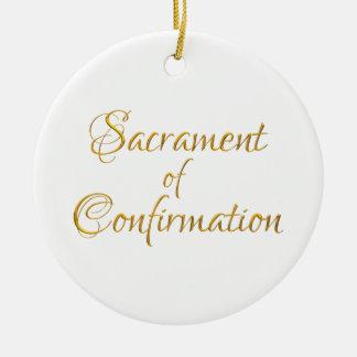 Sacrament of Confirmation Golden 3D Look Christmas Ornament