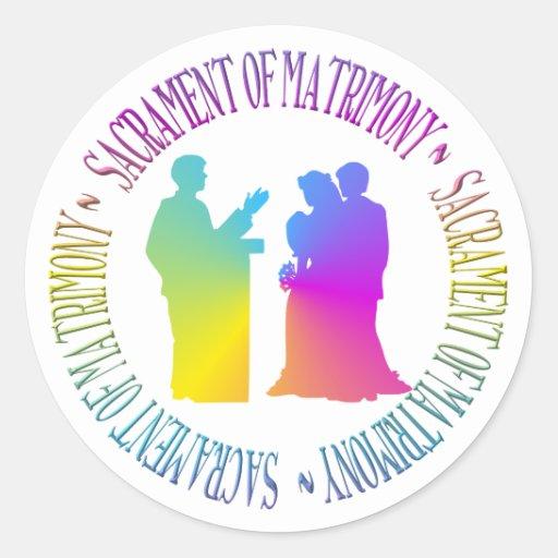 Sacrament of Matrimony Stickers