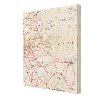 Sacramento, Amador, Calaveras, San Joaquin Canvas Print
