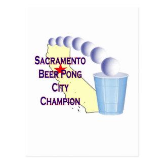 Sacramento Beer Pong City Champion Postcard