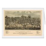 Sacramento, CA Panoramic Map - 1850 Greeting Card