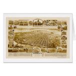Sacramento, CA Panoramic Map - 1890's Greeting Card