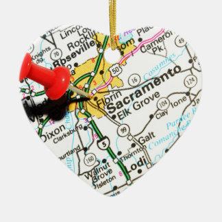Sacramento, California Christmas Ornament