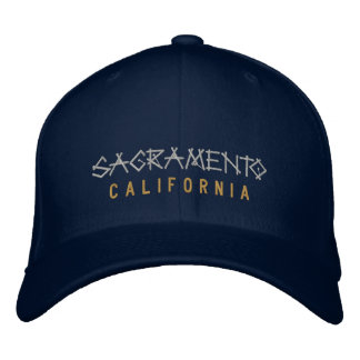 Sacramento California Embroidered Hat on Navy