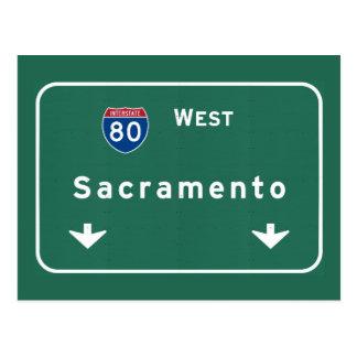 Sacramento California Interstate Highway Freeway : Postcard