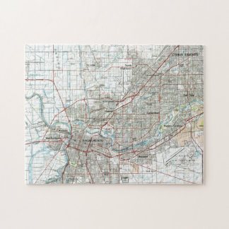 Sacramento California Map (1994) Jigsaw Puzzle