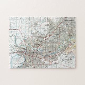 Sacramento California Map (1994) Jigsaw Puzzle