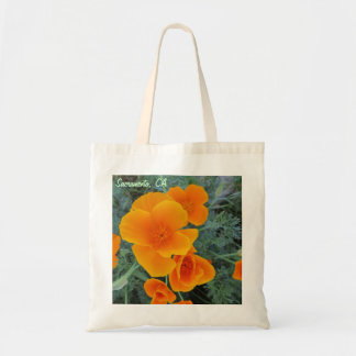Sacramento California Poppy Tote Bag