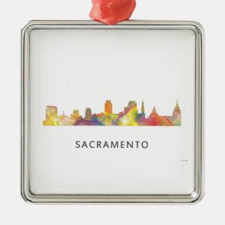 SACRAMENTO, CALIFORNIA SKYLINE WB1 - CHRISTMAS ORNAMENT