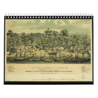 Sacramento City California in 1849 by C Parsons Wall Calendars