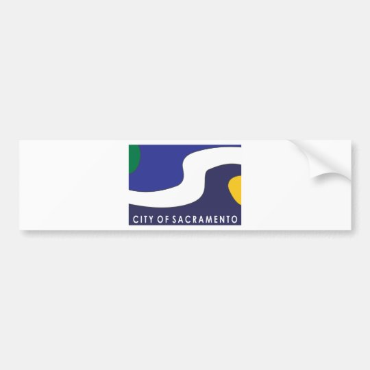 Sacramento city flag bumper sticker