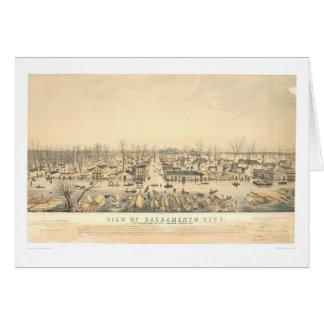 Sacramento During Flood of 1850 (1586A) Greeting Card