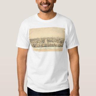 Sacramento During Flood of 1850 (1586A) Tee Shirts