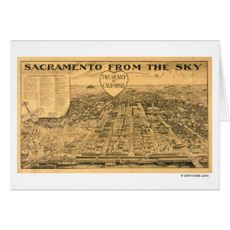 Sacramento from the Sky, 1923 Greeting Card