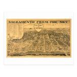 Sacramento from the Sky, 1923 Postcard