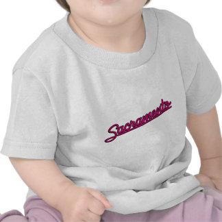 Sacramento in magenta tee shirt