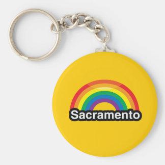 SACRAMENTO LGBT PRIDE RAINBOW KEY CHAINS