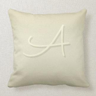 Sacramento Monogram on Pistachio Shell Gradient Throw Pillow