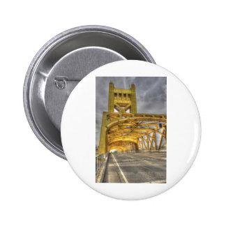 Sacramento Tower Bridge 6 Cm Round Badge