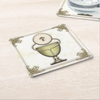 Sacraments Square Paper Coaster