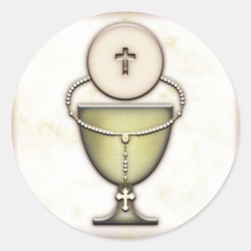 Sacraments Round Sticker