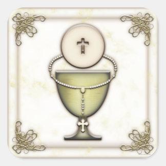 Sacraments Square Stickers