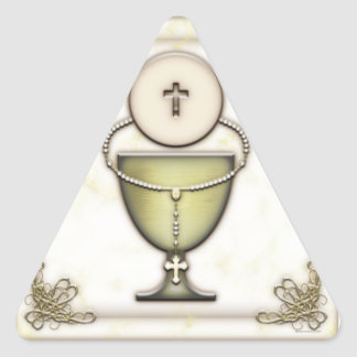 Sacraments Triangle Stickers