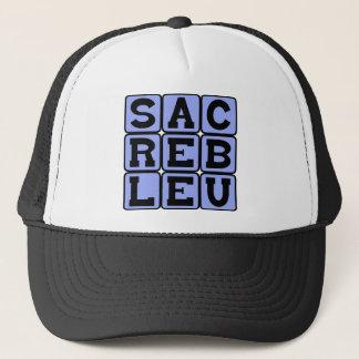 Sacré Bleu, French Slang Trucker Hat