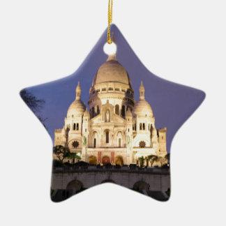 Sacre Coeur at night Christmas Ornament