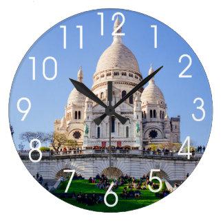 Sacre Coeur Basilica, French Architecture, Paris Large Clock