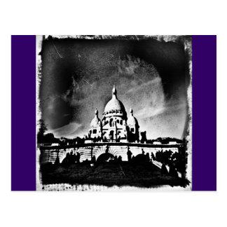 Sacre Coeur BW Postcard